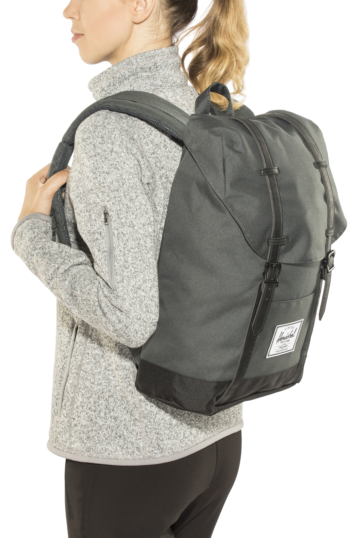 3b810a1f Herschel Retreat Backpack Dark Shadow/Black | campz.at